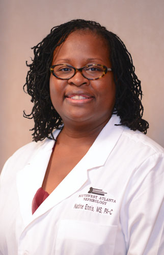 Nadine Ennis, MS, PA-C, provider at Southwest Atlanta Nephrology
